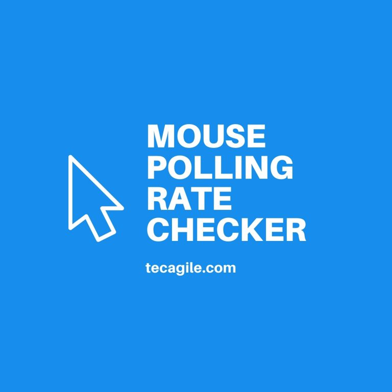 mouse polling rate checker