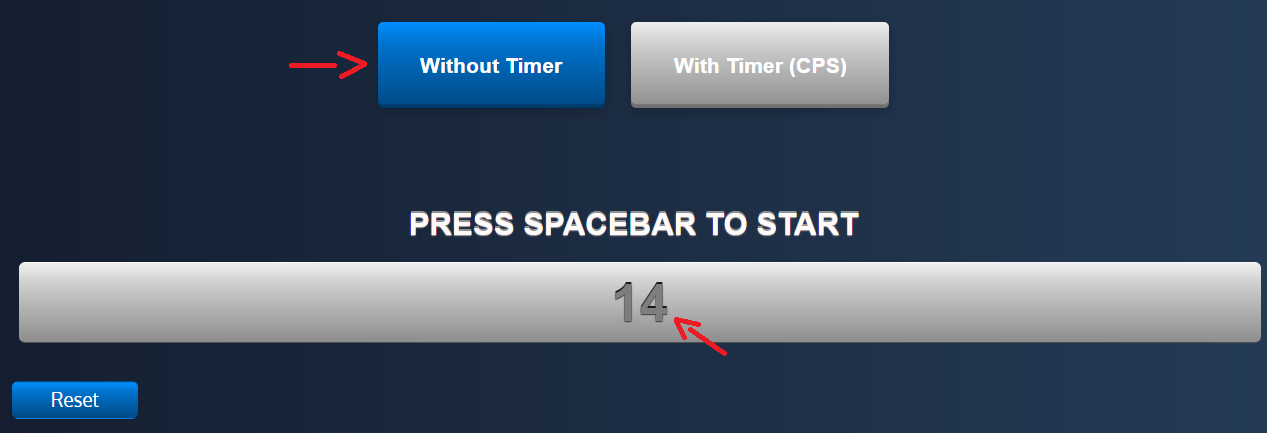 spacebar counter without timer