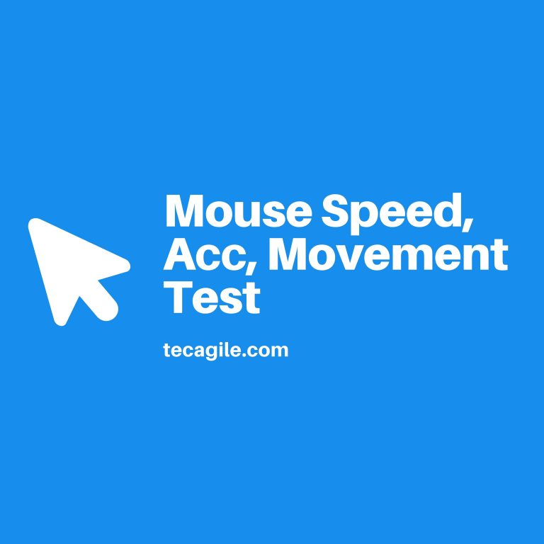 movement speed acc test
