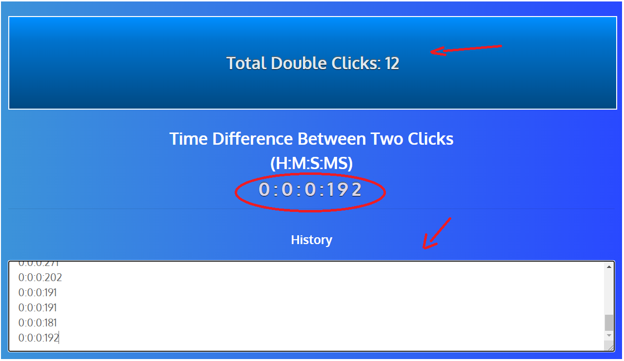 double click test